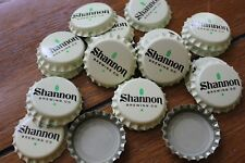 100 SHANNON BREWING CO BEER BOTTLE CAPS UNCRIMPED OFF WHITE FREE FAST SHPNG