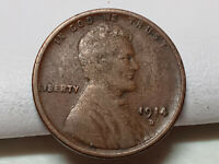 Key Date 1914 D Lincoln Wheat Penny 1C - A8