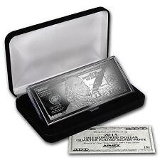 4 oz Silver Bar - 2015 $100 Bill (W/Box & COA) - SKU #88696