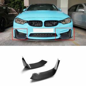 MP Style Carbon Fiber Front Bumper Splitter Lips For BMW F80 M3 F82 F83 M4 14-18