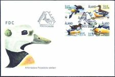 Aland Sea Birds Ducks Wild Ducks Åland Finland Mint FDC Booklet 2001 WWF