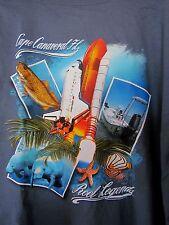 Reel Legends Cape Canaveral Fl Florida 2Xl Men T-shirt New Space Shuttle manatee