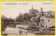 cpa ALLEMANDE - 08 - VOUZIERS (Ardennes) PARTIE MIT DER KIRCHE FELDZUG 1914 1917