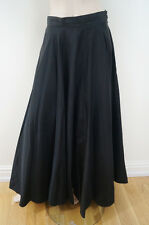 JS COLLECTIONS Black Sheen Long Netted & Lined Length Evening Skirt UK12