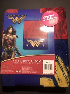 👩 Wonder WomanThrow BlanketSilky Soft Cuddly DC Comics Movie Justice Leagu