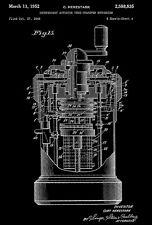 1952 - Curta Pocket Calculator - C. Herzstark - Patent Art Poster
