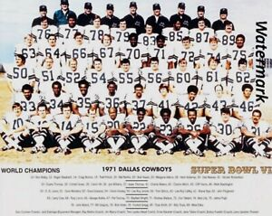 NFL 1971 Dallas Cowboys Super Bowl Champs Team Picture  8 X 10 Photo