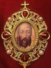 Holy Face of Jesus Monstrance Reliquary Shrine - Veronica's Veil