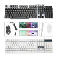 Computer Desktop Gaming Keyboard and Mouse Feel Led Light Backlit