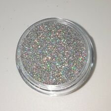 CA Glitter LASER SILVER hologramm Silber multi Schimmer Regenbogen Effekt #400