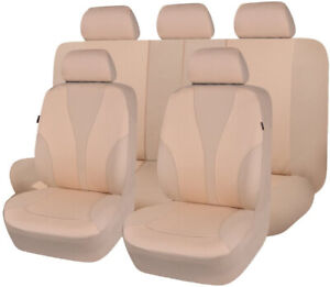 Stamp Fabric Car Seat Covers Universal Set Beige Fit Rear Splited Honda Holden