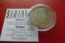 *Türkei 500 000 Lira (2 Euro) 1998 K-N * (BOX1)