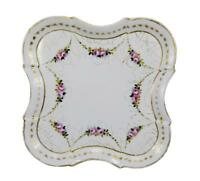 French Antique 19th.C Limoges Hand Painted Porcelain Serving Dresser Tray