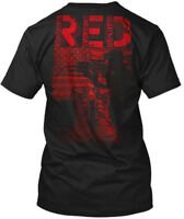 Red Friday Stacked - Read Remember Everyone Deployed Hanes Tagless Tee T-Shirt