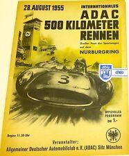28. august 1955 internat adac 500 km rennen nürburgring programmheft VII09 å