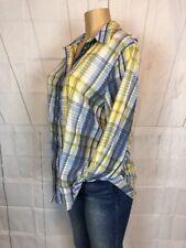 Allison Daley Woman Plus Sz 1X Casual Gauze Tunic Blouse Long Roll Sleeve Top (N