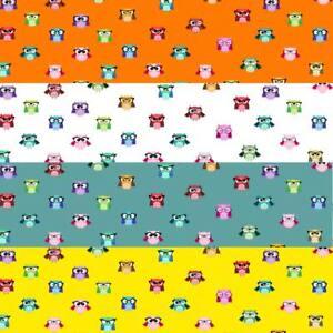 Wholesale Unique Owl Gift Wrap 24 Sheets 4 Colours-High Quality A3 Paper