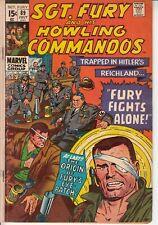 SGT. FURY AND HIS HOWLING COMMANDOS #89 (1971) Marvel Comics  Mid grade