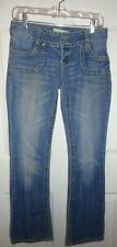 Almost Famous Premium Jeans Bootcut Size 5 Embellished and Embroidered