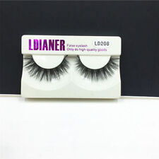 Real Mink Natural Long Black Eye Lashes Fake False Eyelashes Extension 1Pair