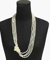 """NWT J.Crew Factory Long pearl knot Necklace 30"""" Length $59"""