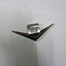 1PC Chrome Silver 6V V6 Metal Emblem Badge Sticker Engine suv Decal Auto Racing