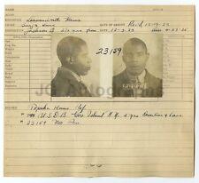 Police Booking Sheet - Roscoe Weaver/Desertion & Larceny - Kansas, 1925