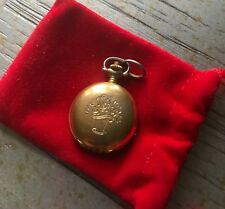 Auth TISSOT Rose engraved pocket watch vintage GOLD WOW!! 100% Goes To Charity