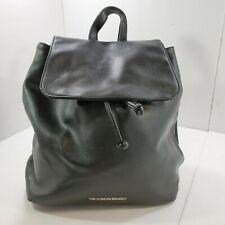 Victoria's Secret Black Backpack Faux Pebbled Leather Purse