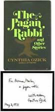 Cynthia OZICK / The Pagan Rabbi and Other Stories Signed 1st Edition 1971