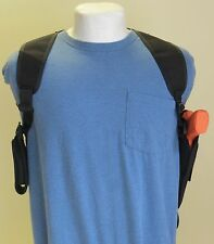 Gun Shoulder Holster for S&W M&P Shield with Dbl Magazine Pouch Vertical Carry
