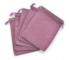 NEW 5 Piece 4 x 5.5 Velveteen Cloth Dice Bag Set – RPG D&D Pouch – Purple