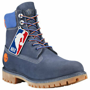 Men's Timberland X NBA NEW YORK KNICKS BOOTS, TB0A2493 E09 Multi Sizes Dark Blue
