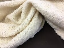 "New Designer Ivory Cream Colour Wool Knit Jersey Fabric 56""143cm Material Cloth"