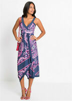Bold and Bright Ethnic Print Handkerchief Hem Stretch Jersey Holiday Dress