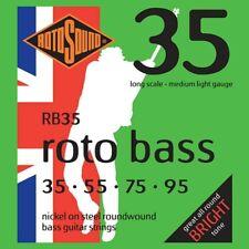 Rotosound RB35 Roto Bass Guitar 4-Strings, Medium Light Nickel, 35-95