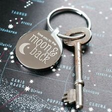 I Love You To The Moon and Back Keyring, Romantic Gift, Valentines Day