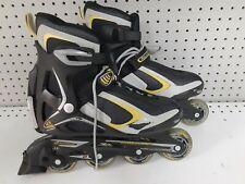 Rollerblade Zetrablade Men's Inline Skate Size 8 Black/Yellow BARELY WORN NICE!!