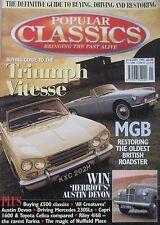 Popular Classics 01/1995 featuring Toyota Celica, Ford Capri, MGB, Riley, Austin