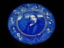 Antique Royal Doulton Flow Blue? Charles Dickens Character Portrait Plate, 10'