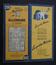 Carte MICHELIN n°206 old map ALLEMAGNE DEUTSCHLAND 1950 Bibendum pneu tyre 3