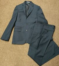 EXPRESS SUIT MENS 36R BLAZER JACKET fitted 30/32 DRESS PANTS PHOTOGRAPHER EUC