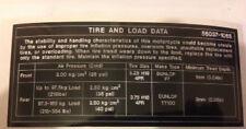KAWASAKI Z550 KZ550 TIRE AND LOAD DATA CAUTION WARNING DECAL