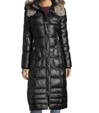 Women's Winter Outerwear X-mas Church black quilted puffer long coat plus 2X 3X