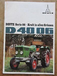 orig. Prospekt Deutz D40 06 35PS Traktor Schlepper 12Seiten W1003-1