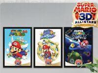 Super Mario 3D All-Stars Poster Set of 3 My Nintendo Rewards Exclusive - New