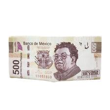TrendsBlue Premium 500 Mexican Peso Bill Money Print PU Leather Bifold Wallet