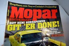 MOPAR Enthusiast Magazine December 2009 Sunroof GTX Demon Resto EFI Cuda Beast