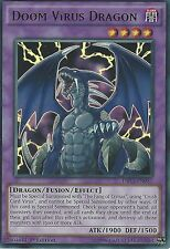 3 X YU-GI-OH ULTRA RARE CARD: DOOM VIRUS DRAGON - DRL3-EN057 - 1st EDITION