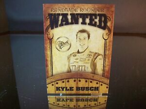 Insert Kyle Busch #18 M&M's Wheels RENEGADE ROUNDER WANTED 2009 Card #RR 6/9
